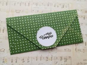 Papiernictvo - Vianočné obálky na peniaze (Zelená) - 11394897_