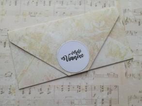 Papiernictvo - Vianočné obálky na peniaze (Béžová) - 11394898_