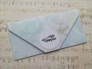Papiernictvo - Vianočné obálky na peniaze (Modrá) - 11394902_
