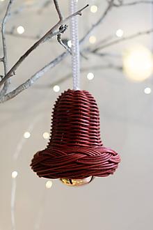 Dekorácie - Bordový zvonček - 11396446_