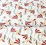 Textil - veľké zemité lístky, 100 % bavlna Francúzsko, šírka 150 cm - 11396323_