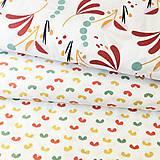 Textil - veľké zemité lístky, 100 % bavlna Francúzsko, šírka 150 cm - 11396325_