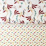 Textil - veľké zemité lístky, 100 % bavlna Francúzsko, šírka 150 cm - 11396327_