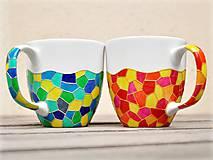 Nádoby - Maľovaný hrnček - Mozaika - 11396769_