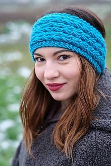 Čiapky - Čelenka tyrkysová - 11395386_