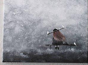 Dekorácie - V snehovej búrke - 11396402_