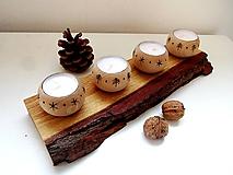 Svietnik dubový so 4 sviečkami