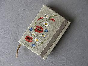 Papiernictvo - Obal na knihu lúčne kvety - 11395495_