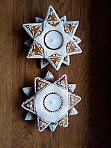 Dekorácie - Medovníček -svietniky dvoj hviezdy - 11395881_