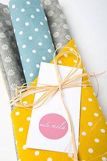 Úžitkový textil - Ekologické vrecúška - sada 3 ks - 11397846_