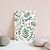 Papiernictvo - Set pohľadníc s rastlinným motívom - 11394904_
