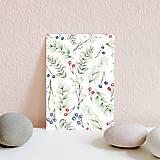 Papiernictvo - Set pohľadníc s rastlinným motívom - 11394905_