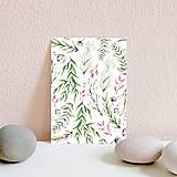 Papiernictvo - Set pohľadníc s rastlinným motívom - 11394906_