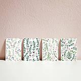 Papiernictvo - Set pohľadníc s rastlinným motívom - 11394913_
