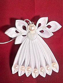 Dekorácie - Bielý anjeličkovia na stromček - 11397753_