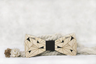 Doplnky - Drevený maľovaný motýlik Picasso minimalistic - 11395475_