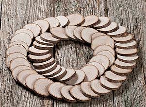 Materiál ručne robený - Drevené plátky okrúhle - priemer cca 5,5 cm - 11394975_