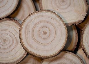 Materiál ručne robený - Drevené plátky okrúhle - priemer cca 5 cm - 11394981_
