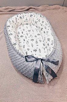 Textil - hniezdo pre bábätko Lesík, šedé - 11397584_