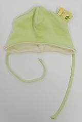 Detské čiapky - Prechodná čiapočka biobavlna/merino - 11395950_