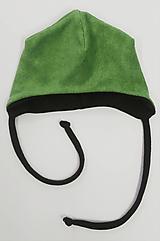Detské čiapky - Čiapočka pre bábätko bambus/merino - 11396052_