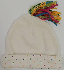 Detské čiapky - Čiapočka s brmbolcom - 11395363_