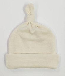 Detské čiapky - VÝPREDAJ Dvojvrstvová merino čiapočka - 11395365_