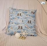 Dekorácie - Vianočné vankúše - obliečka - Čarovné zimné zvieratka - 11395929_