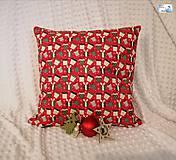 Dekorácie - Vianočné vankúše - obliečka - Darčeky na červenej, Darčeky na bielej - 11395956_