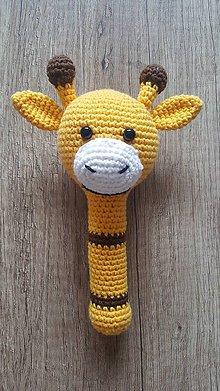 Hračky - Žirafa - hrkálka - 11395270_