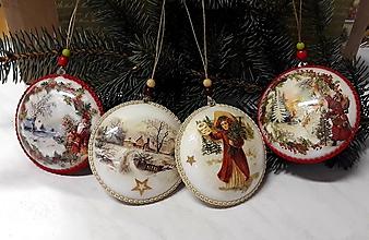 Dekorácie - vianočné medailóny mix - 11395417_