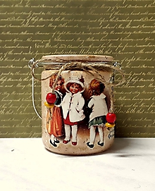 Svietidlá a sviečky - vianočný lampášik deti - 11397852_