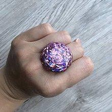 Prstene - Živicový prsteň ružový kruh - 11399190_