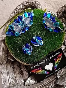 Sady šperkov - Modrý set - 11401679_