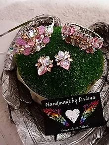 Sady šperkov - Set ružová/champagne - 11401748_