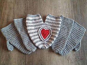 Rukavice - Zamilované rukavičky - 11400180_