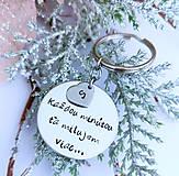 Kľúčenky - Kľúčenka s nápisom na želanie a srdiečkom 3 - 11400575_