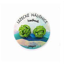 Náušnice - Uzlík / zelený - 11398184_