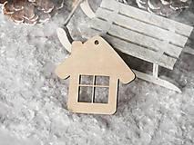 Dekorácie - Vianočná ozdoba domček (Vzor I) - 11401920_