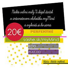 Darčekové poukážky - PoUKážka 15€-20€-30€-40€-50€ - 11401517_
