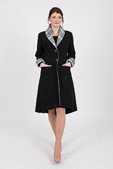 Kabáty - Zľava 40% MIESTNY KABÁT KLASIK (čierny) - 11401636_