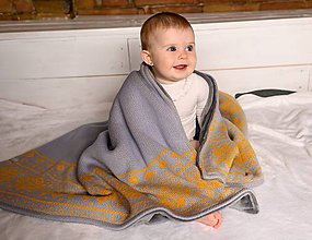 """Textil - Detská deka,""""Nórsky vzor"""", OEKO-TEX® - Šedá-Kari - 11399923_"""