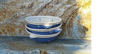 Nádoby - Modrá keramická miska na guláš - 11398935_