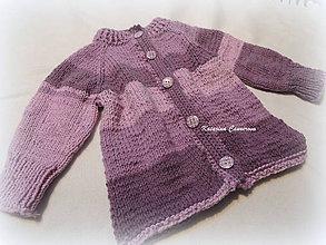 Detské oblečenie - Fialový svetrík - 11398776_