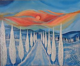 Obrazy - Slnečná zima - abstrakt - 11399101_