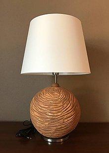 Svietidlá a sviečky - Stolná lampa - guľa, keramika - 11398723_