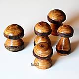 Socha - Hríbik z čerešňového dreva - 11400616_