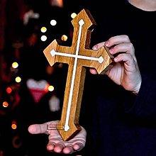 Dekorácie - Kríž dubový II. - 11400713_