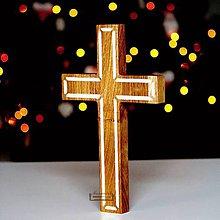 Dekorácie - Kríž dubový IV. - 11400735_