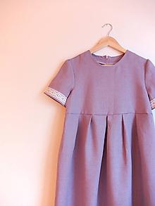 Šaty - Ľanové šaty levanduľové na želanie - 11401666_